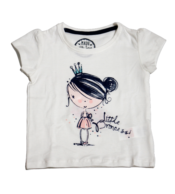 Primark young dimension little princess tee, 12-18 Months