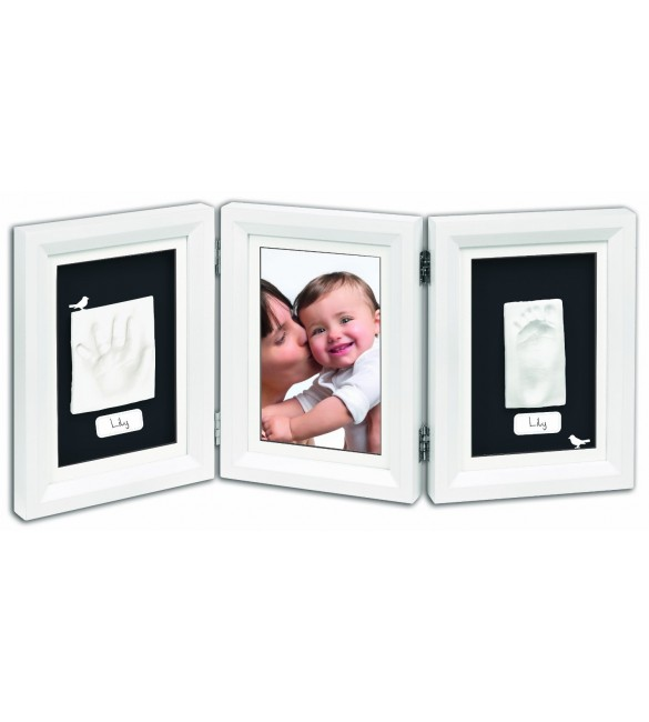 Baby Art Double Print Frame Classic (White & Black)