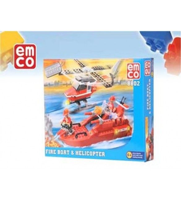 EMCO – New Boy Fire Boat and Helicopter