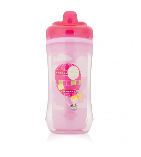 Dr. Browns Hard-Spout Insulated Cup Pink Balloon-12m+