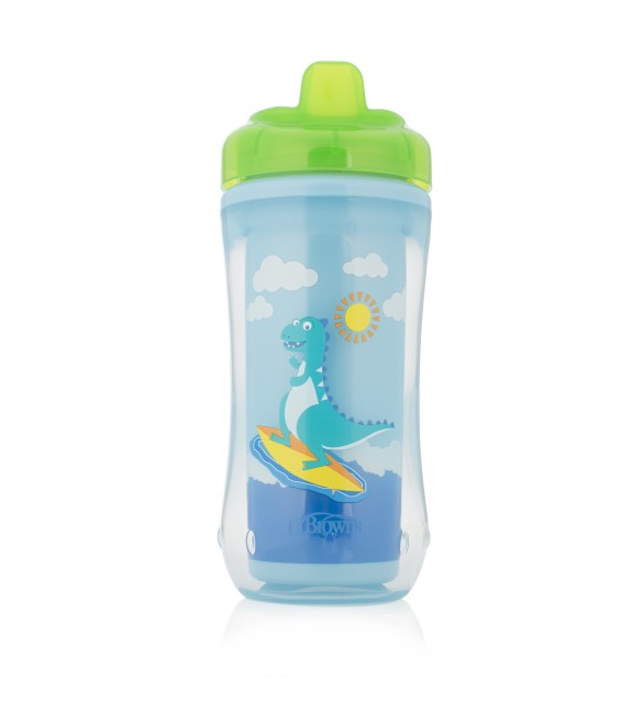 Dr. Brown's Hard-Spout Insulated Cup Blue Dino-12+