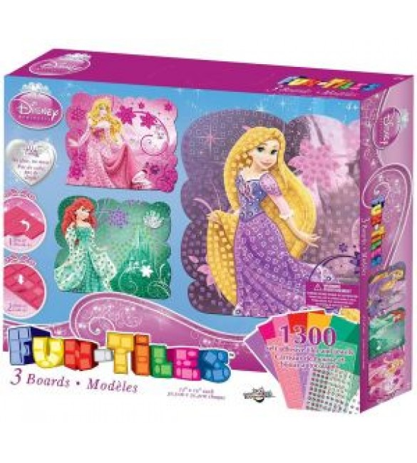 Disney Princess Fun-Tiles 3 Board Set, Multi Color