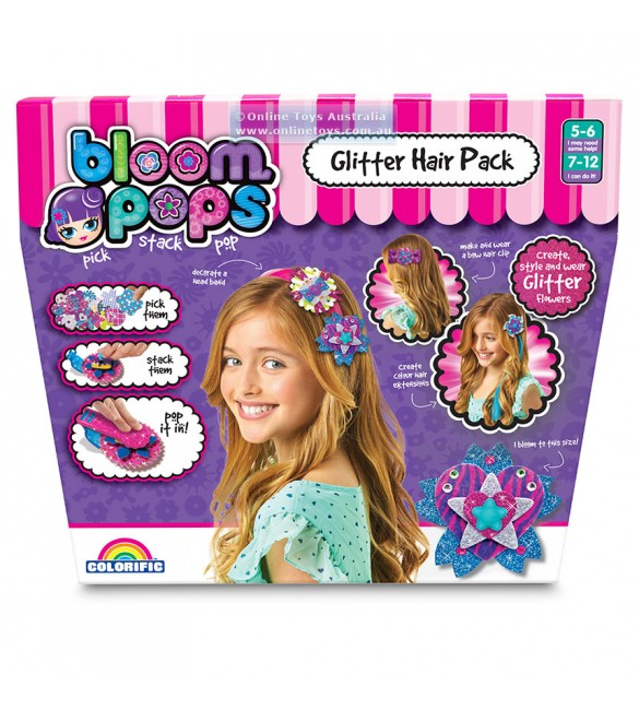 BLOOM POPS - GLITTER HAIR PACK