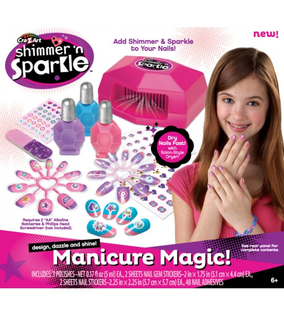 CRA-Z-ART SHIMMER 'N SPARKLE MANICURE MAGIC BOX