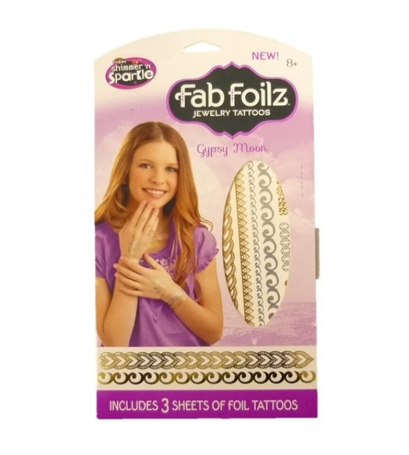 CRA-Z-ART SHIMMER N SPARKLE FAB FOILZ JEWELRY TATTOOS