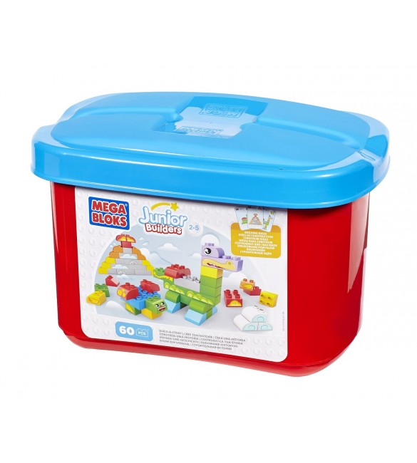 Building Blocks Build-a-Story 60 piece Tub - red