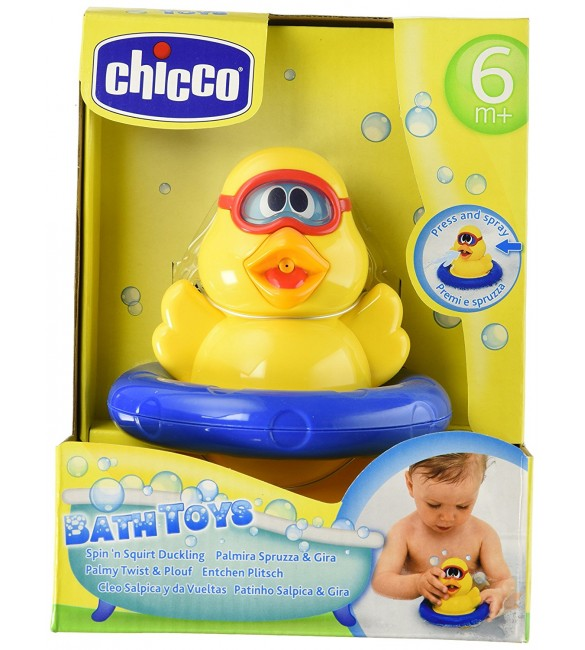 Chicco 21 cm Spin 'n' Squirt Duckling Bath Toy