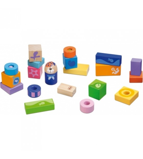 Chicco toy blocks 23pcs, wooden