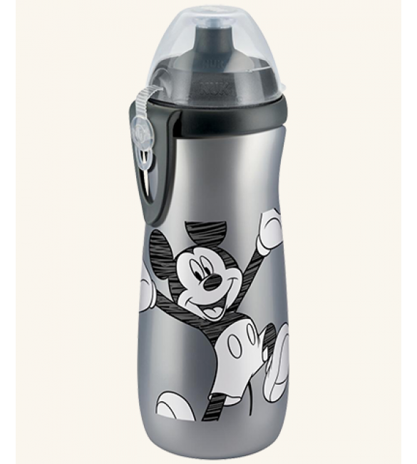 NUK Disney Mickey Sports Cup 450ml with push-pull spout - Silver