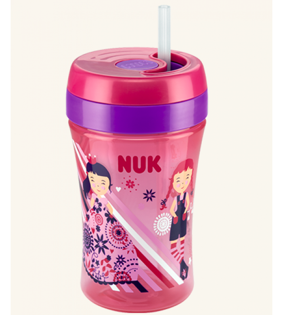 NUK Easy Learning Cup Fun 300ml with straw
