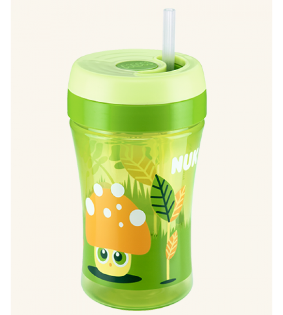 Nuk Easy Learning Cup Fun 300ml with straw - Green