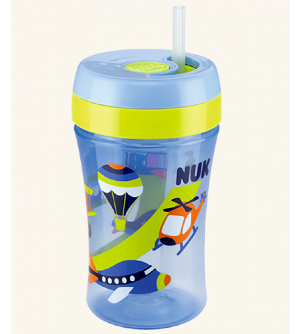Nuk Easy Learning Cup Fun 300ml with straw - Blue