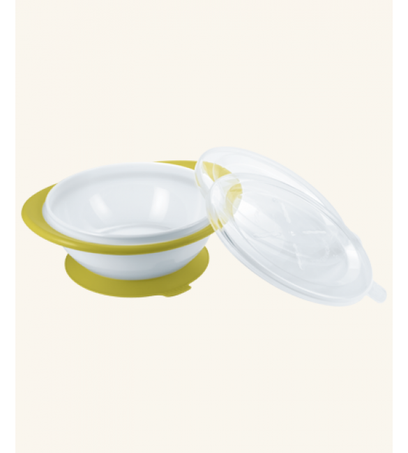 Nuk Easy Learning Feeding Bowl with two lids - Green