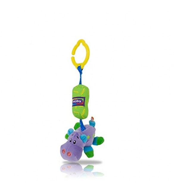 Nuby Safari Chimes for Baby's Car Seat or Pushchair  Hippo