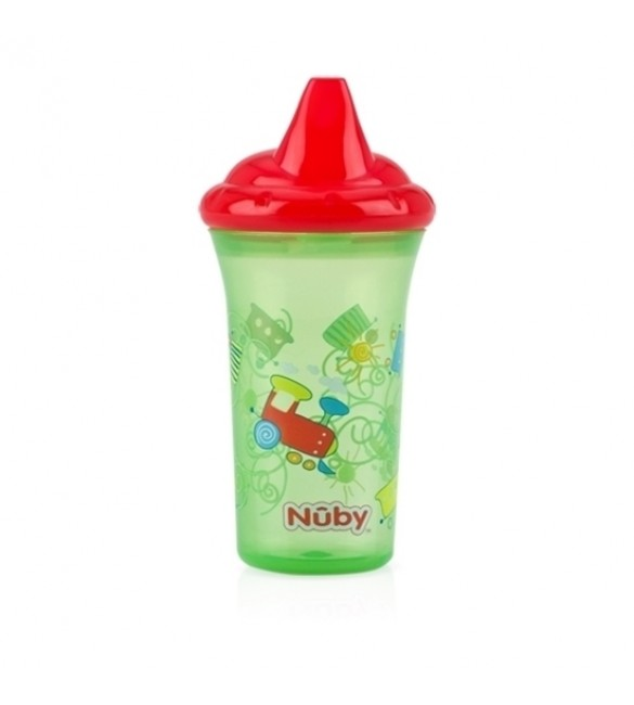 Nuby No-Spill™ Hard Spout Cup - Green