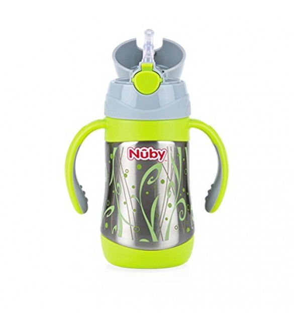 Nuby Insulated Stainless Steel Cup with Straw 280ml