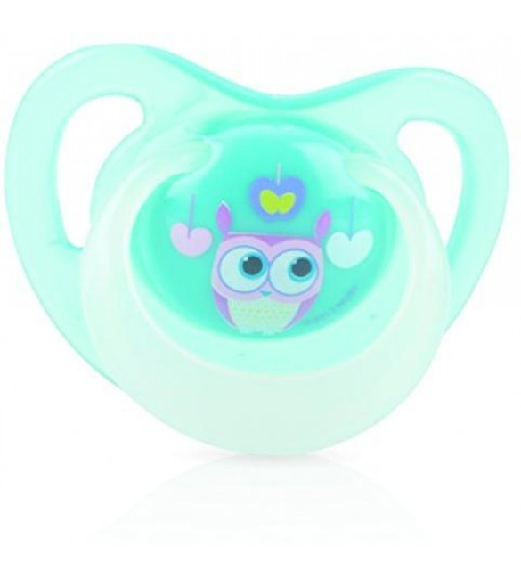 Nuby Pacifiers - Glow Ortho (Owl) Stage one 0-6 Months