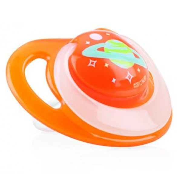 Nuby Pacifiers - Glow Ortho (Orange) Stage Two 6-18 Months