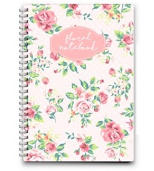 FRENCH ROSE(23X17 CM) WIRE NOTEBOOK