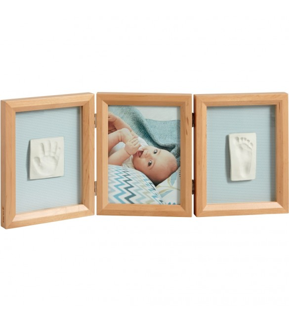 My Baby Art My Baby Touch Wooden Double Frame - Honey