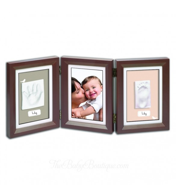 My Baby Art Double Print Frame - Brown And Beige