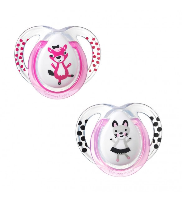 Tommee Tippee SOOTHER FUN STYLE X2-Pink