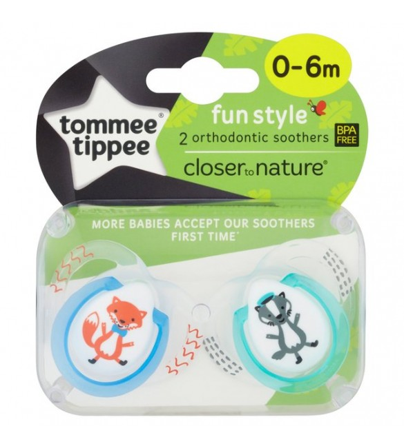 Tommee Tippee SOOTHER FUN STYLE X2-Blue