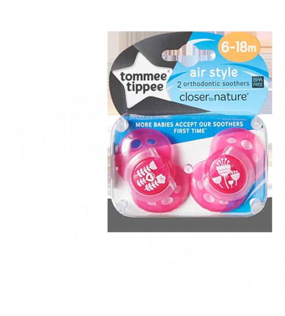 TOMMEE TIPPEE SOOTHER AIR STYLE-Pink