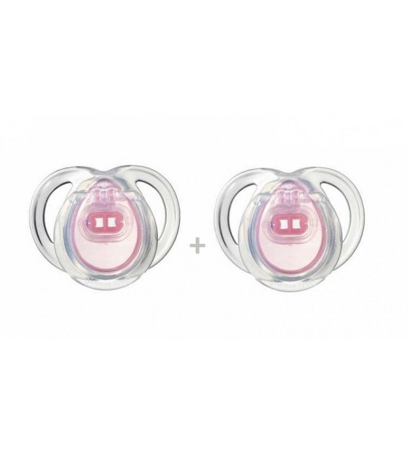 Tommee Tippee ANYTIME Soother( 0-6)x2  Pink