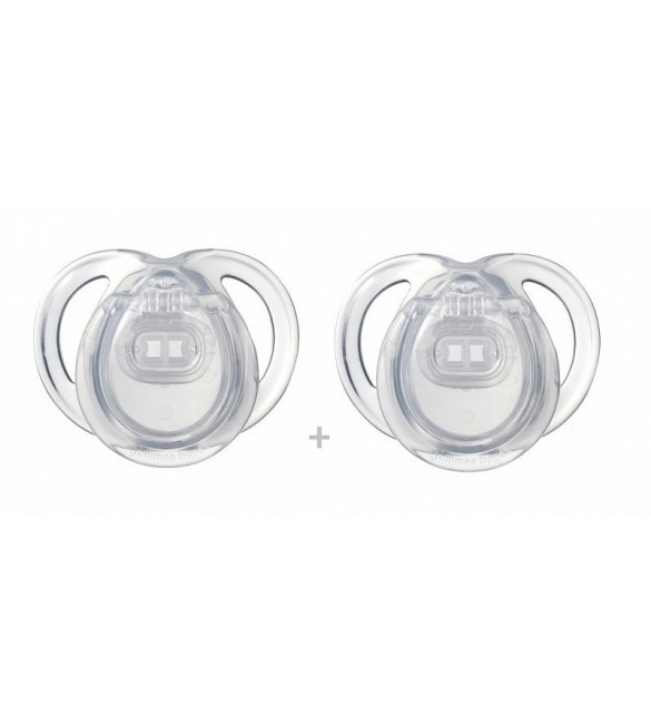 Tommee Tippee ANYTIME Soother( 0-6)x2  white
