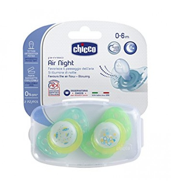 Chicco Physio Air Soothers 0-6M Green