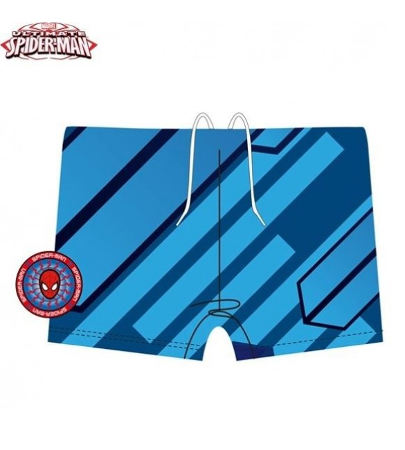 Ultimate SpiderMan Swimming Trunks for Kids - Striped Blue