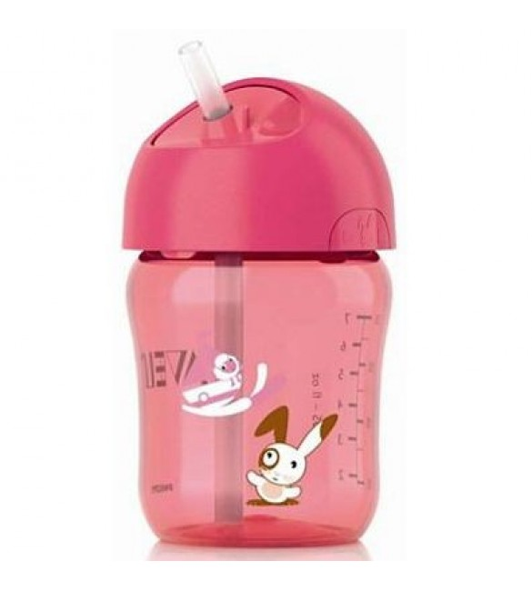 Philips Avent Straw Cup, 260ml - (Pink)