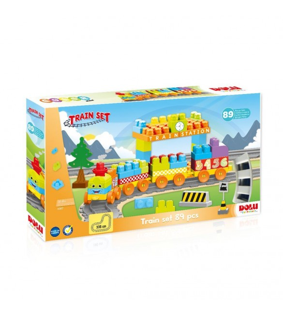 Dolu Train Set, 85 piece
