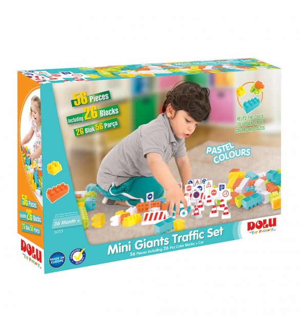 Dolu Mini Giants Traffic Set-56 pcs