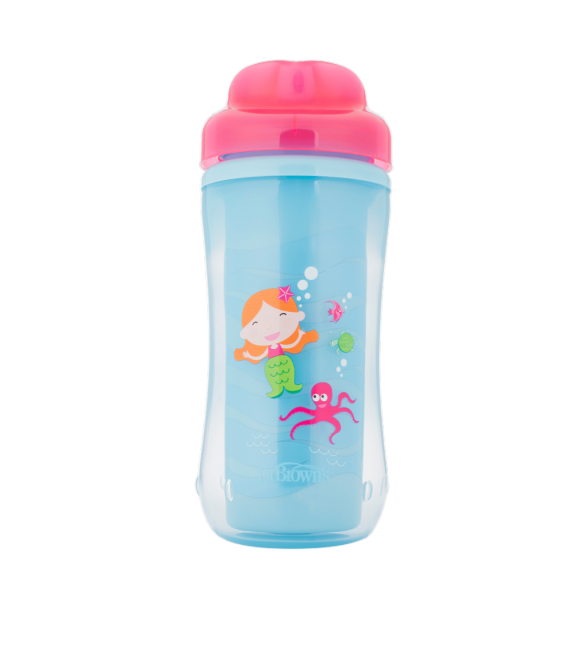 Dr Brown's Spoutless Insulated Cup 12m+ Pink