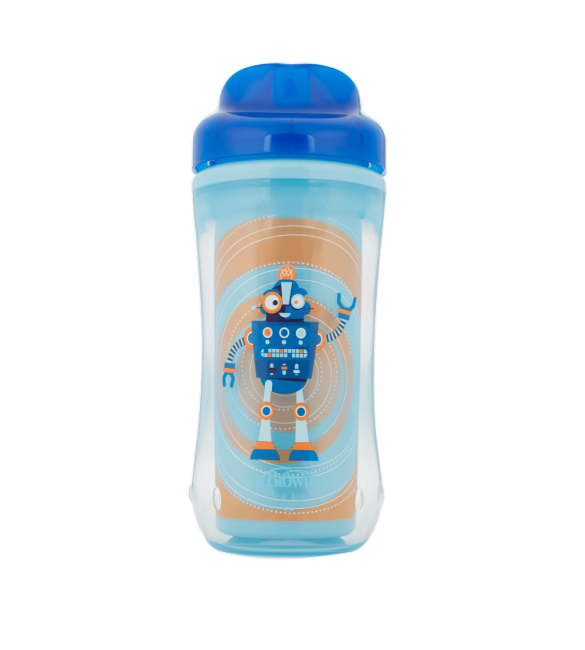 Dr Brown's Spoutless Insulated Cup 12m+ Blue