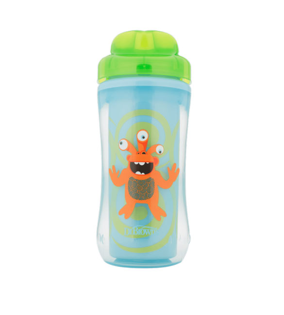 Dr Brown's Spoutless Insulated Cup 12m+ Green