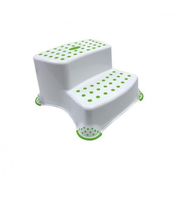Bébé Confort Double Step Stool-White/Green