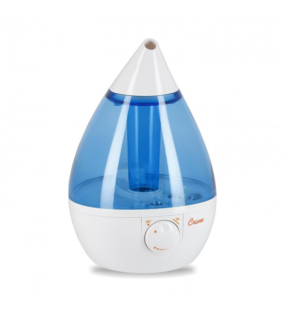 Crane Drop Ultrasonic Cool Mist Humidifier – Blue and White