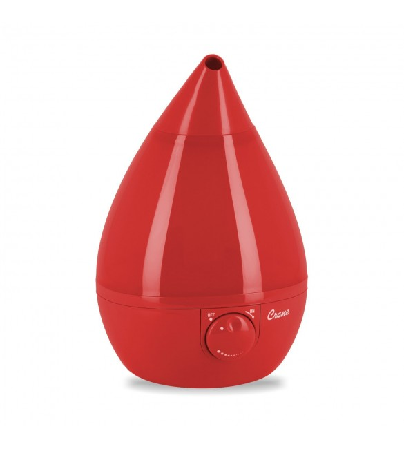 Crane Drop Ultrasonic Cool Mist Humidifier – Red