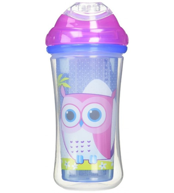 Nuby Insulated No-spill Clik-It Cool Sipper, 18 Months plus, 9 oz