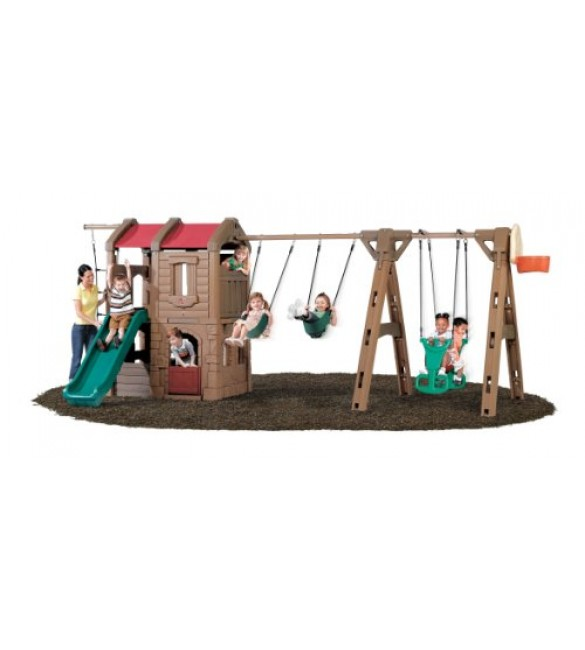 Step 2 Naturally Playful Adventure Lodge Play Center with Glider