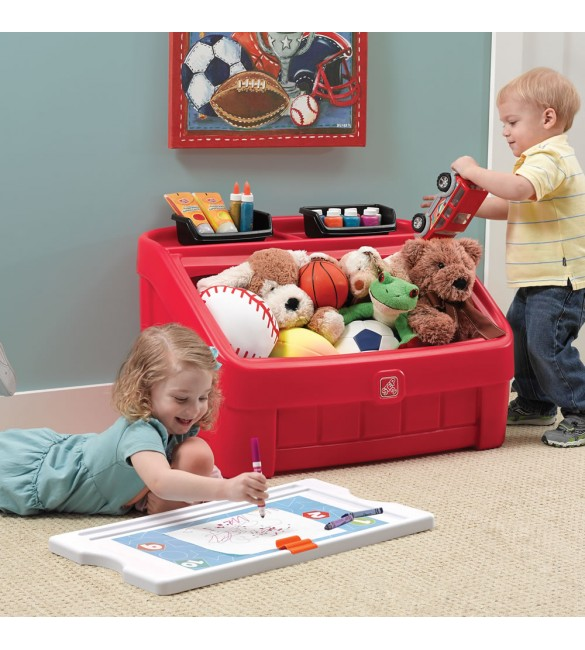 Step 2 2-in-1 Toy Box & Art Lid - Red