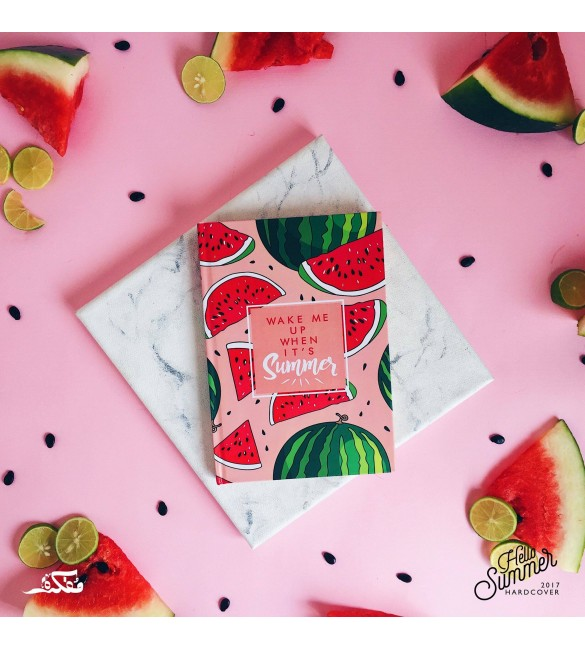 Hard Cover Notebooks - Wake Me Up When Its Summer (Pink)