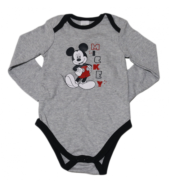 Grey Mickey Mouse Onesie - (9-12 Months)