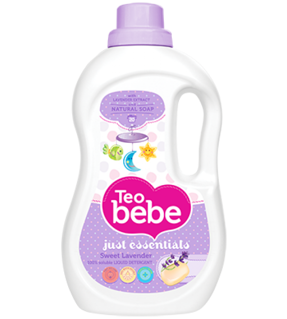 Teo Bebe Detergent And Fabric Softener 1.3 liter (Lavender)