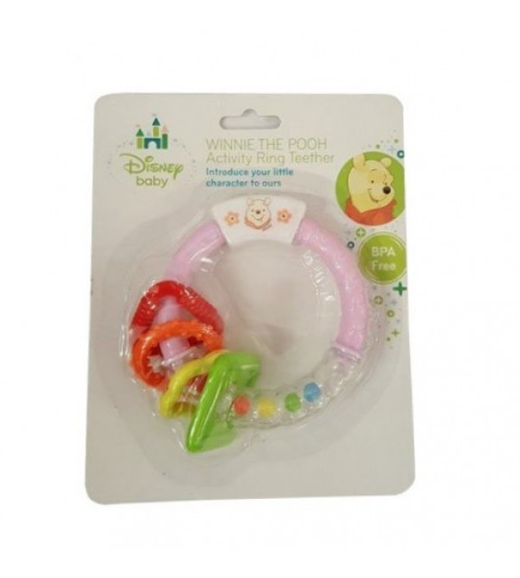 Winnie the Pooh Activity Ring Teether Pink
