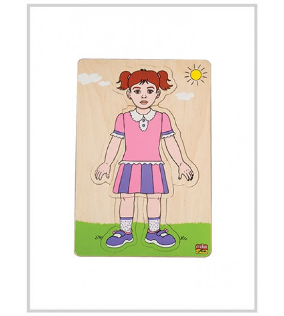 Edu Fun Building Up Body Parts Puzzles (Girl layered puzzle (1) )