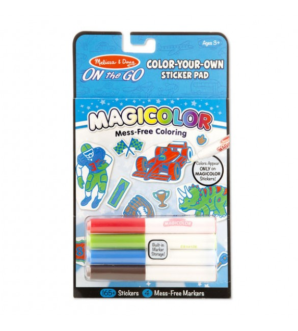 melissa & doug On the Go Magicolor Color-Your-Own Sticker Pad - Vehicles, Sports, and Dinosaurs